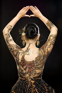 Peacock Tattoo Similar With Batik Design From Indonesia