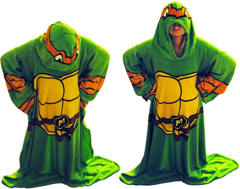 TEENAGE MUTANT NINJA TURTLE SNUGGIE! WHACHUKNOWBOUTDAT?