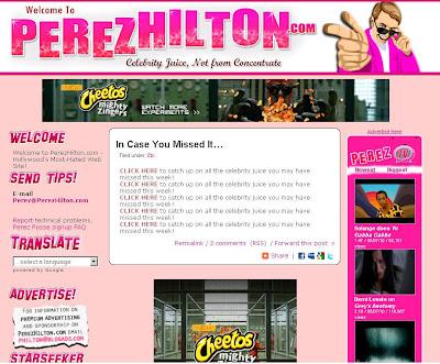 Perez Hilton's Blog (Perezhilton.com) Info