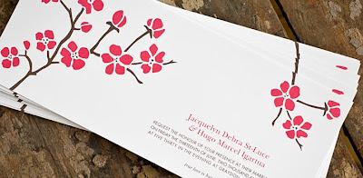 Wedding Project Cherry Blossom Inspired Invitations
