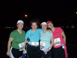 My sisters and me before the Disney Half Marathon Race 1-13-2008