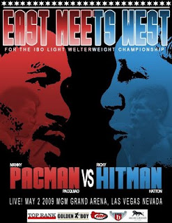 Manny 'Pacman' Pacquiao vs Ricky 'Hitman' Hatton promotional fight posters