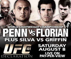 Watch UFC 101 Declaration B.J. Penn vs Kenny Florian Live Online Video