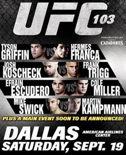 Watch UFC 103 Franklin vs. Belfort Live FREE Online Stream