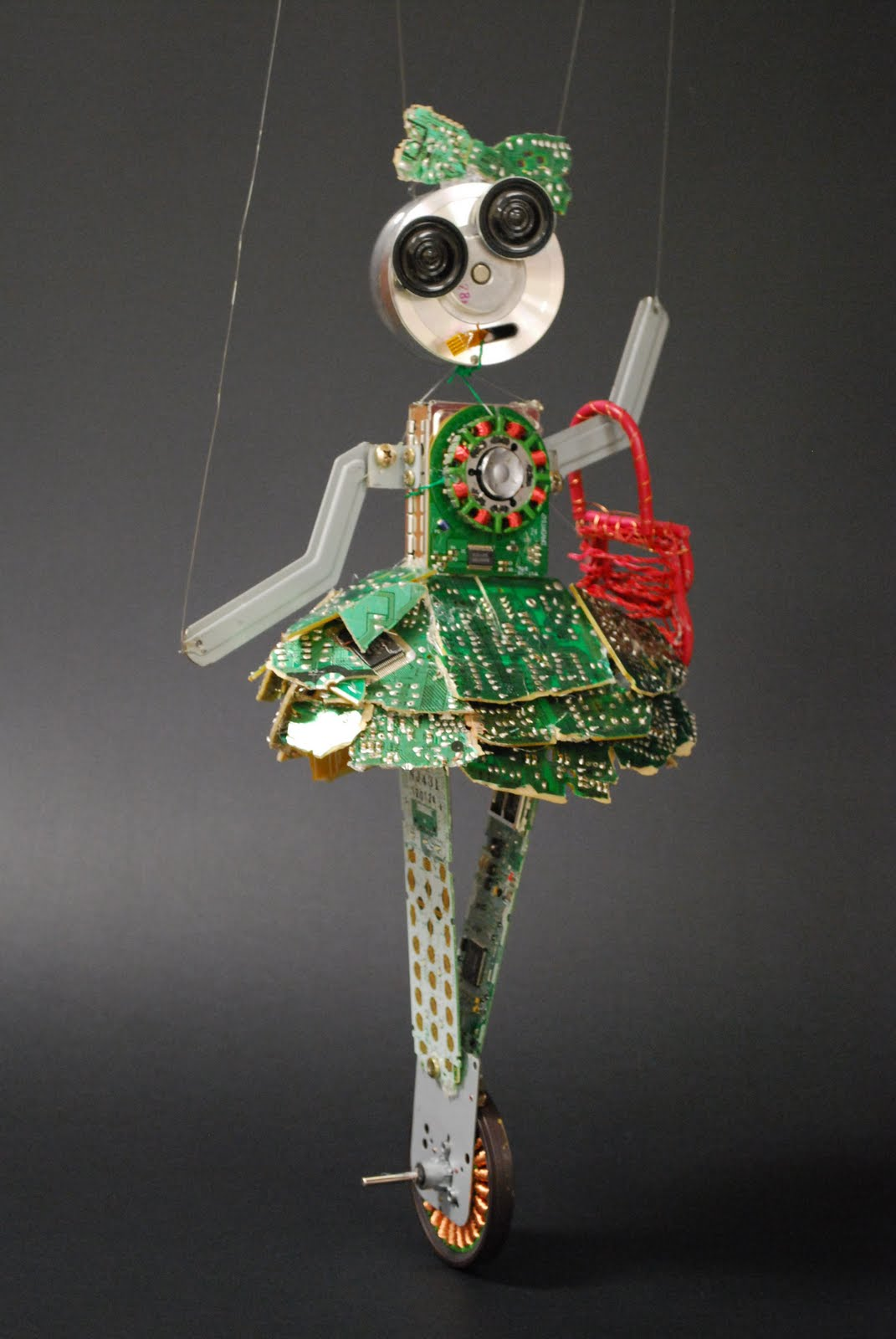 Makays Blog Jenny The Robot Circuit Board This Is A Marinette Made From Found Objects Every Piece Screwed On Or Glued Her Dress To Copper Wheel It Was Mostly An