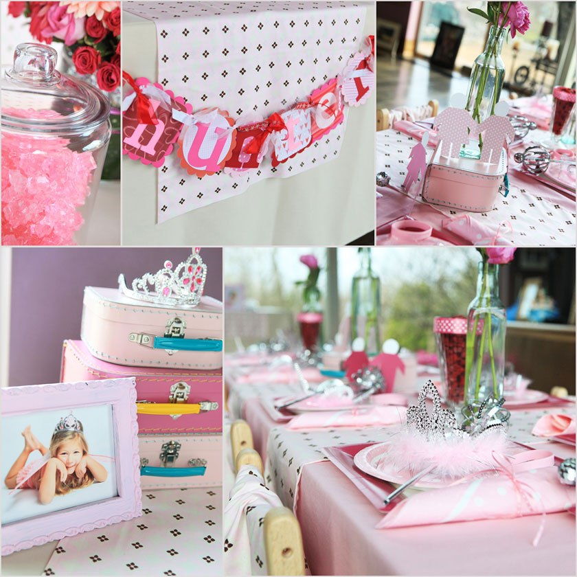 Daisy pink cupcake princess party for Princess birthday party crafts