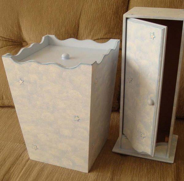 Conj. Lixeira e Porta Papel Higiênico - R$ 60,00