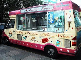 павильон для продажи мороженого на колесах