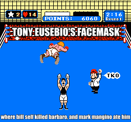 Tony Eusebio's Facemask
