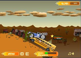 Monster Truck Trip, aplasta autos