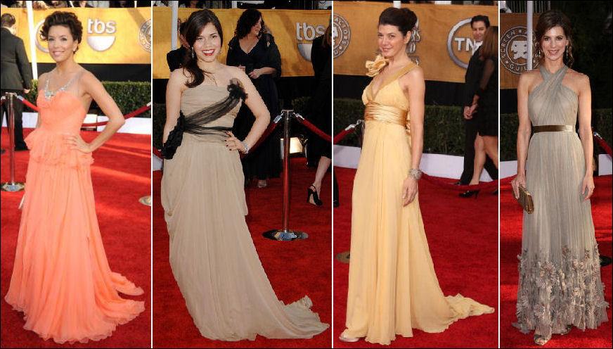 search style carpet dresses
