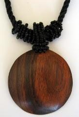 Circular Wood Pendant
