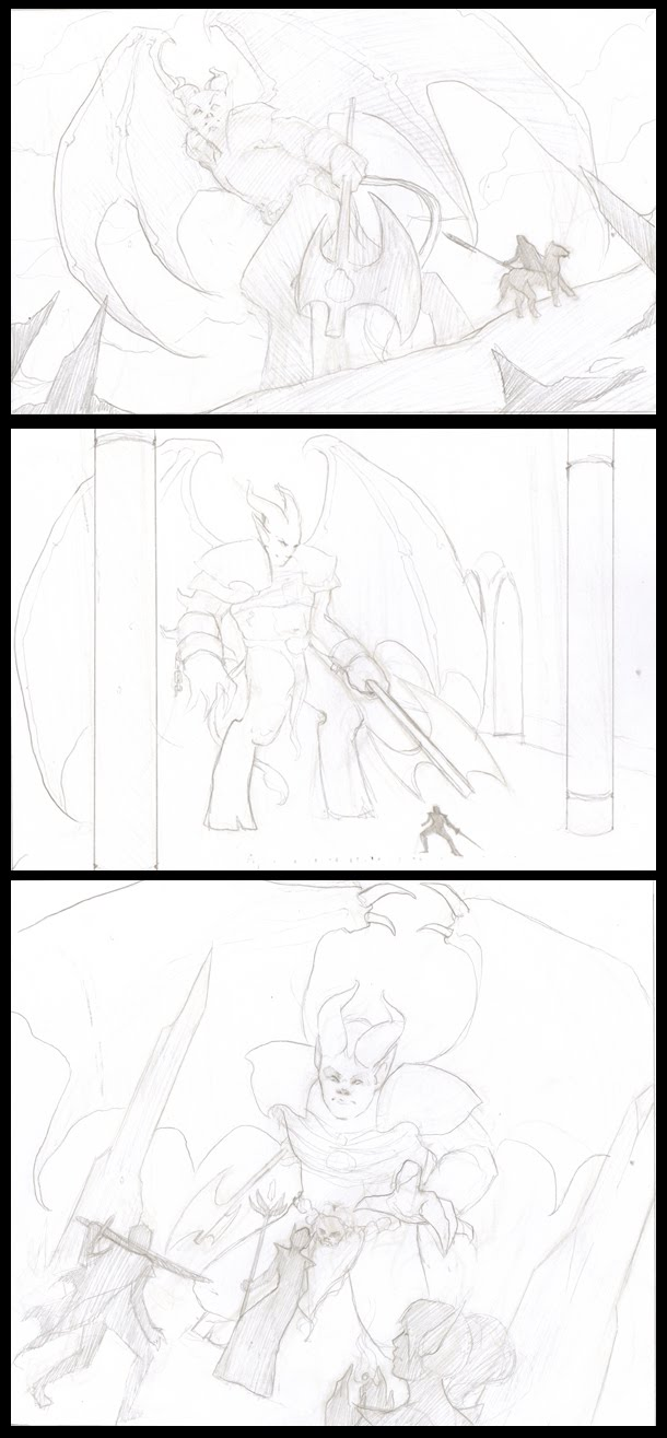 Mock: 10/4 Thumbnails and WIP progress shots, pg. 21.