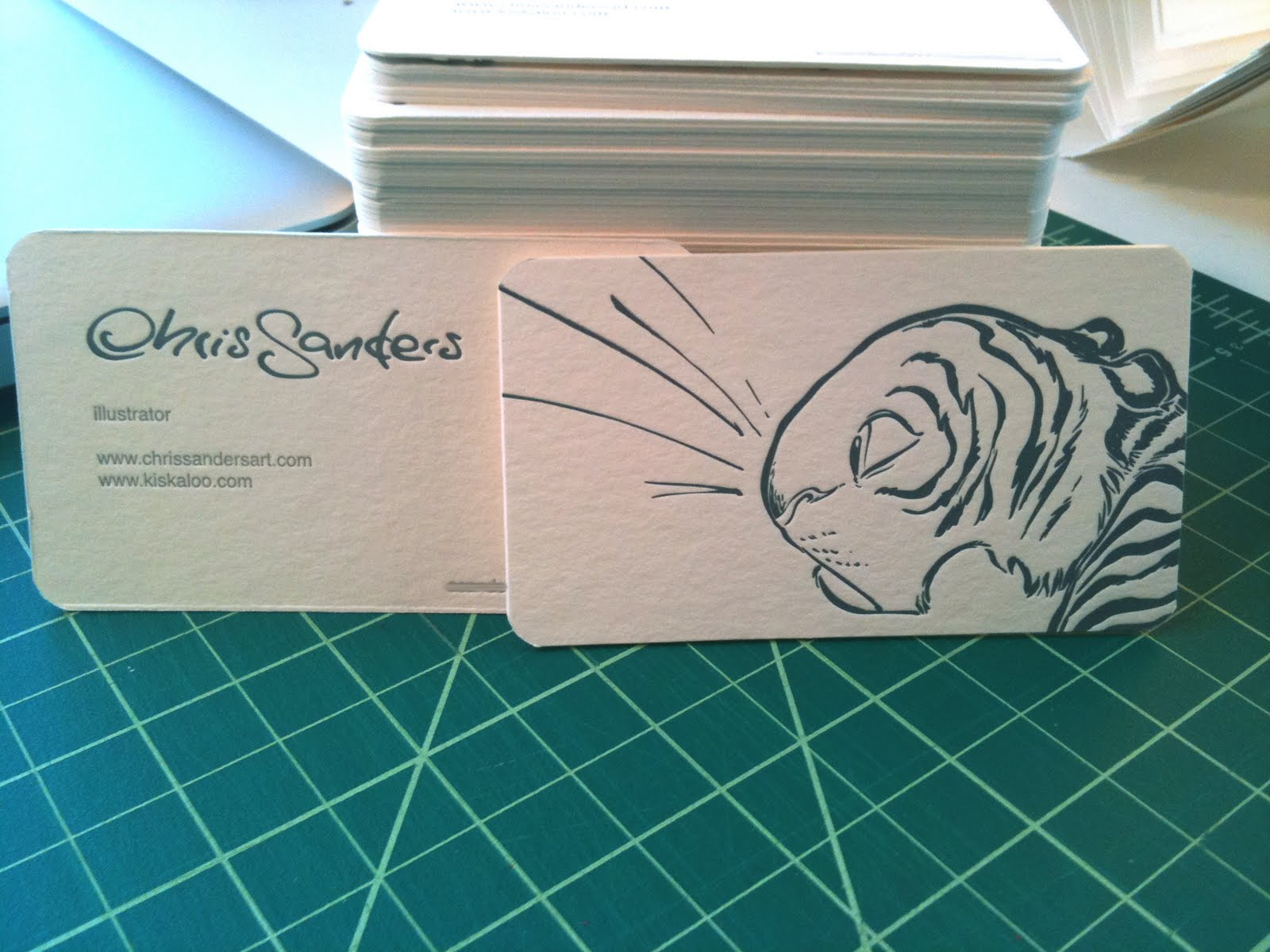 mandy sechrist s blog A Chris Sanders business card