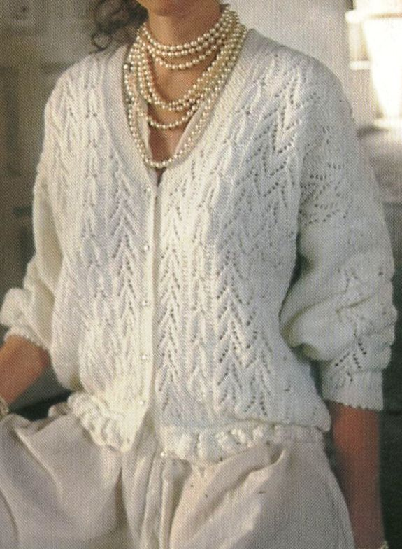 Simple Knitting Pattern For Ladies Cardigan - White Polo Sweater