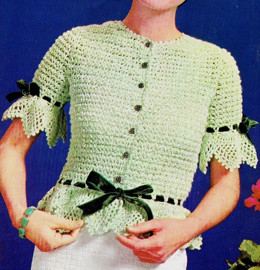 Tulip Edging & Insertion Free Filet Crochet Pattern