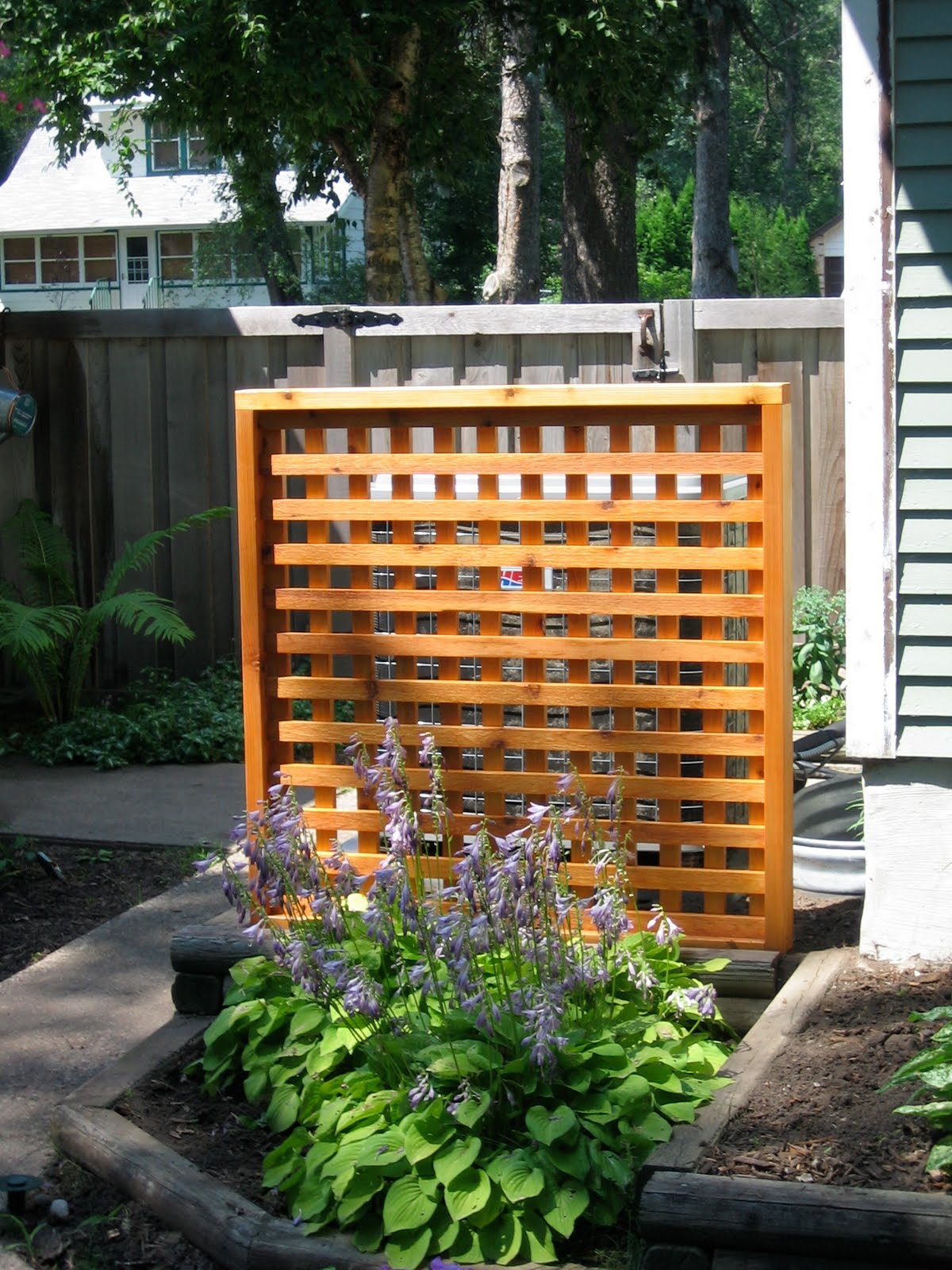 Bungalow restoration garden lattice for Outdoor lattice