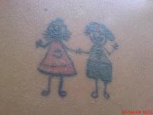 A minha 1º tatuagem( foi á 3 anos atrás ) no ombro