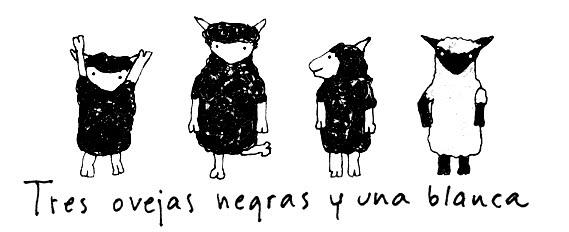 3 ovejas negras y 1 blanca