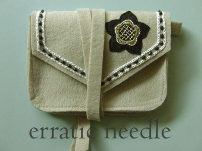 bolsa em feltro bordada, embroidered felt handbag