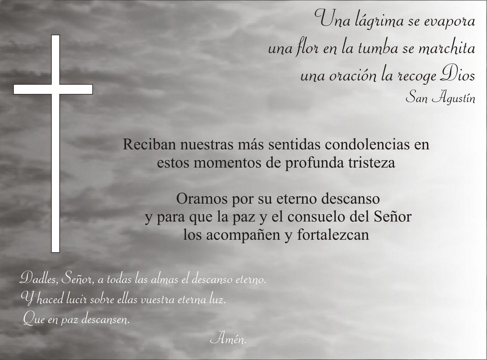 Tarjetas de Condolencias, Agradecimiento, Aniversario de