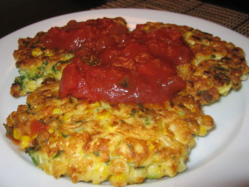 Corn Fritters with Salsa