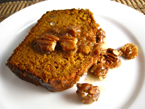 Sweet Potato Bread with Praline Sauce on Closet Cooking