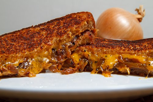 Onion Chutney Grilled Cheese Sandwich on Closet Cooking