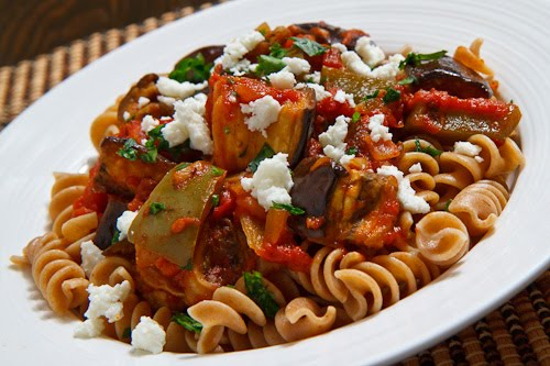Roasted Eggplant Pasta on Closet Cooking