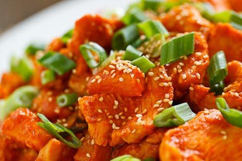 Pineapple Dak Bulgogi (Pineapple Korean BBQ Chicken) on Closet Cooking