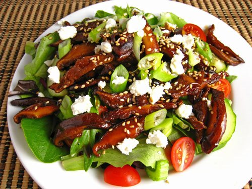 Teriyaki Mushroom Salad
