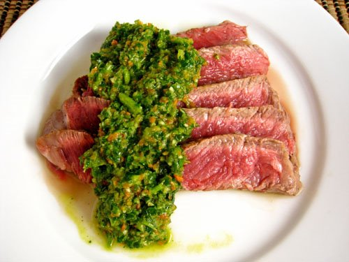 Steak Chimichurri on Closet Cooking
