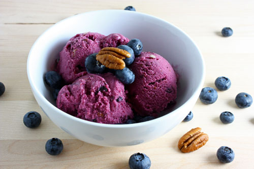 Blueberry Maple Pecan Frozen Yogurt on Closet Cooking