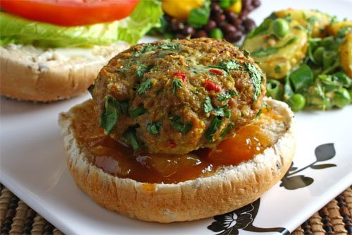 Curried Chicken Burger