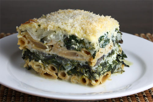 Pastitsio (Greek Lasagna) with Greens on Closet Cooking