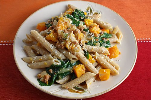 Butternut Squash, Italian Sausage and Sage Pasta on Closet Cooking