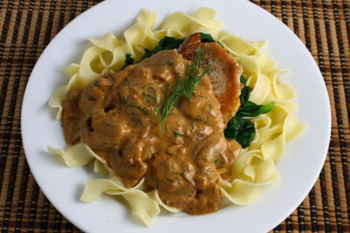 Pork Chops in a Mushroom Paprika Sauce on Closet Cooking