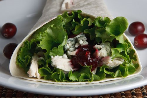 Turkey, Cranberry and Blue Cheese Wraps