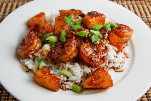 Shrimp and Pineapple Teriyaki