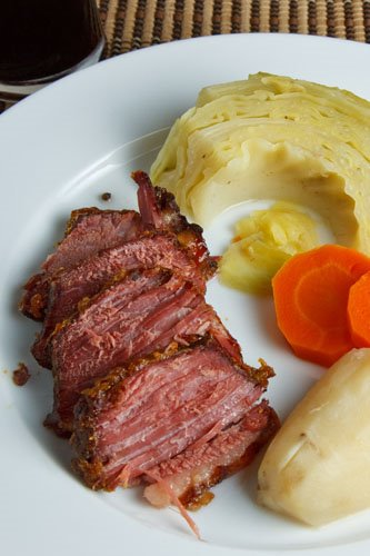 Corned Beef Glazed in Honey and Mustard