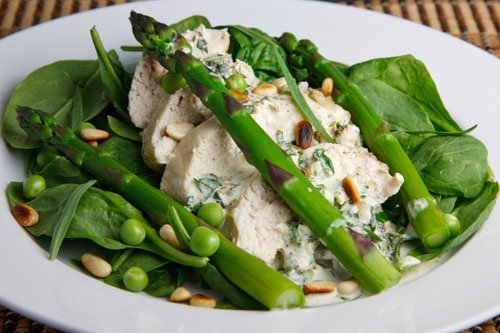 Chicken and Asparagus Salad with Creamy Tarragon Dressing on Closet ...