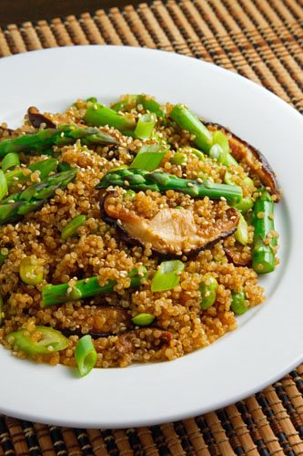 Asparagus and Shiitake Mushroom Teriyaki Quinoa Salad