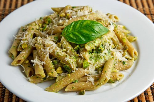 Pistachio Pesto on Penne on Closet Cooking