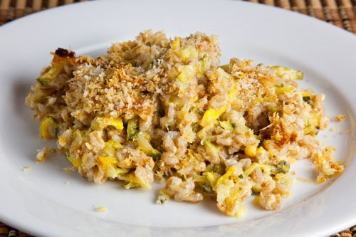 Zucchini and Farro Gratin