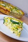 Zucchini and Feta Quiche with a Brown Rice Crust