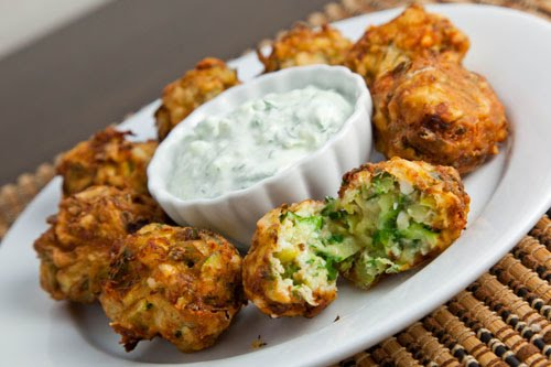 Kolokythokeftedes (Zucchini and Feta Balls)