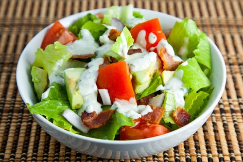 BLT Salad with Avocados and a Blue Cheese Dressing on ...