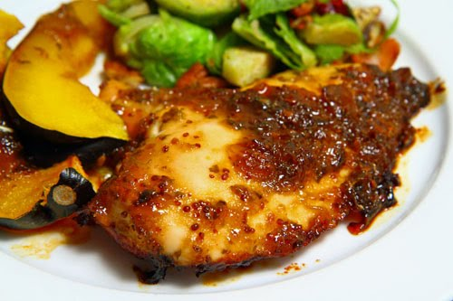 Chicken Baked in Green Tomato and Jalapeno Jam