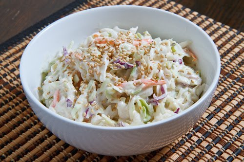 Sesame and Ginger Coleslaw