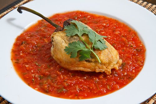 Chiles Rellenos on Closet Cooking